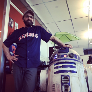 Adam Levermore and R2D2